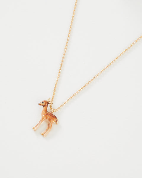 Enamel Fawn Necklace