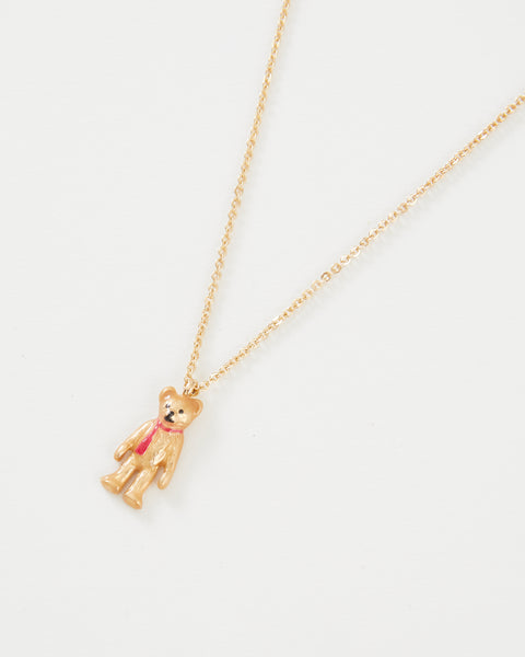 Enamel Teddy Bear Necklace