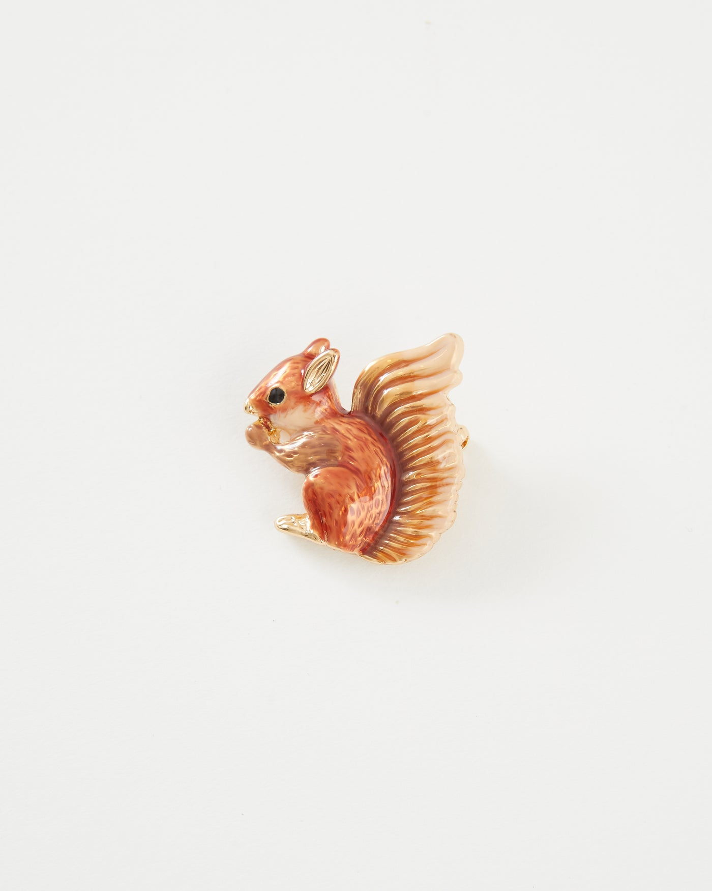Enamel Red Squirrel Brooch