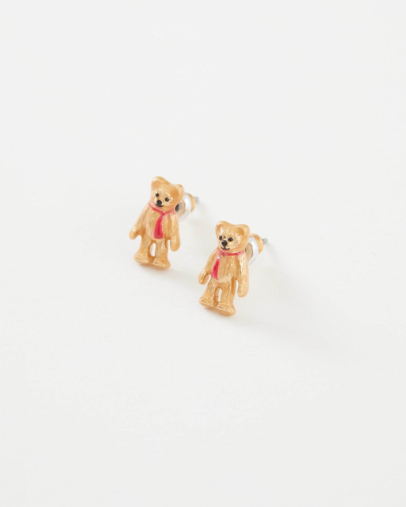 Enamel Teddy Bear Earrings