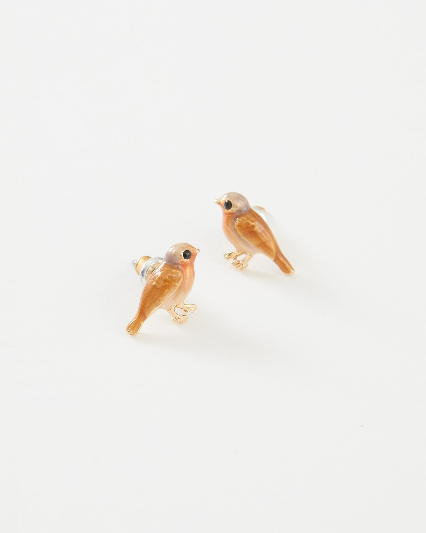 Enamel Robin Earrings
