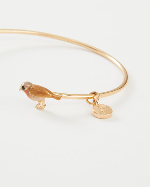 Enamel Robin Bangle