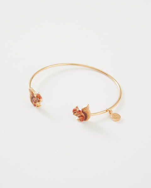 Enamel Red Squirrel Bangle