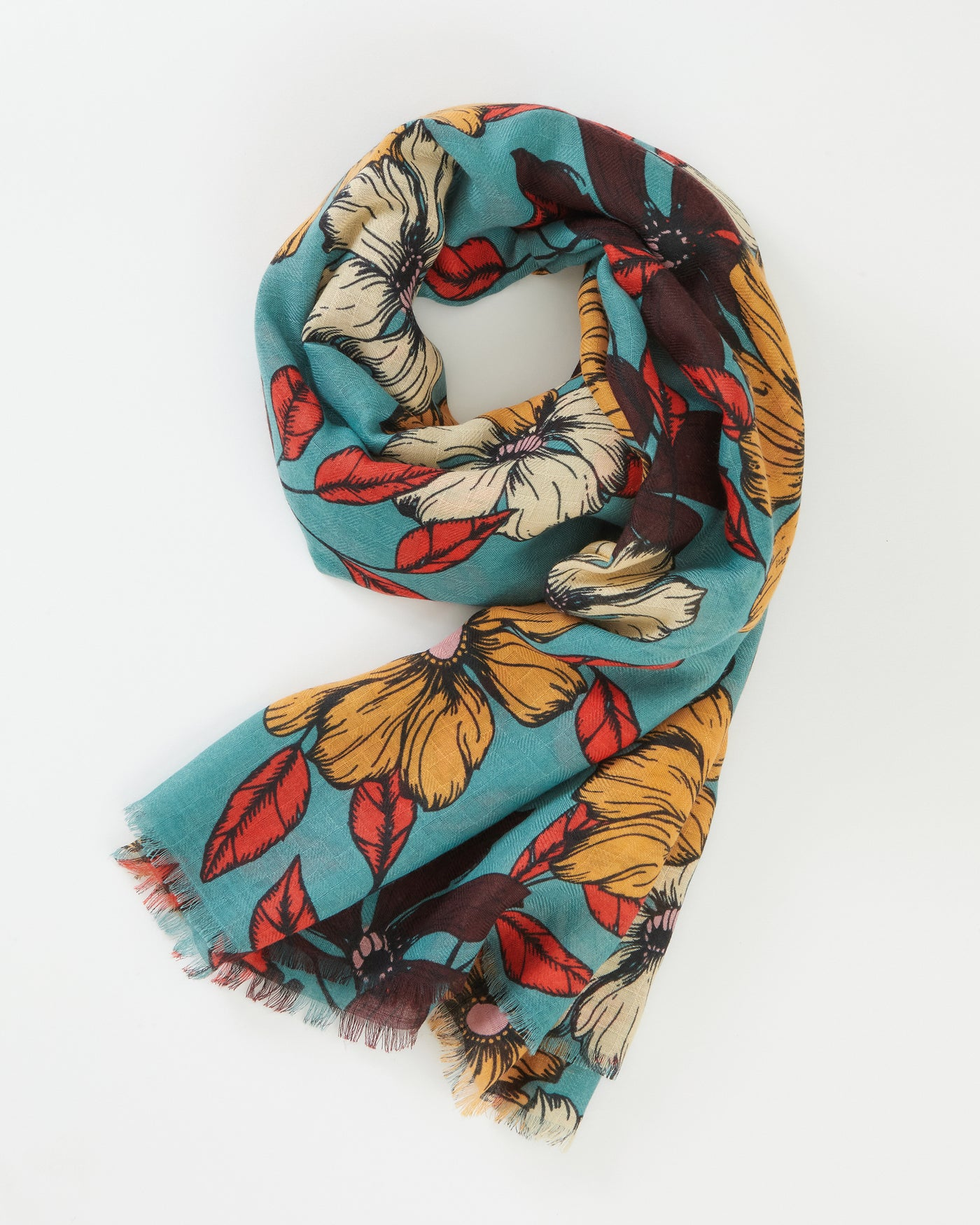 Teal Borrowdale Scarf