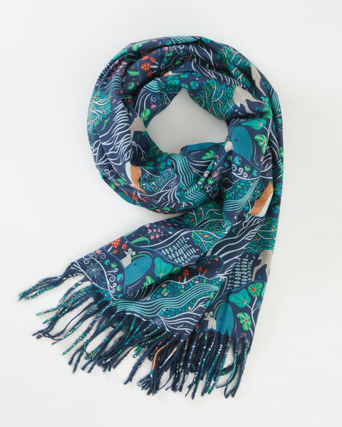 Navy The Enchanted Tree Scarf