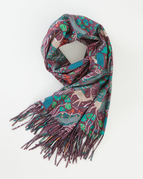 Wine The Enchanted Tree Scarf