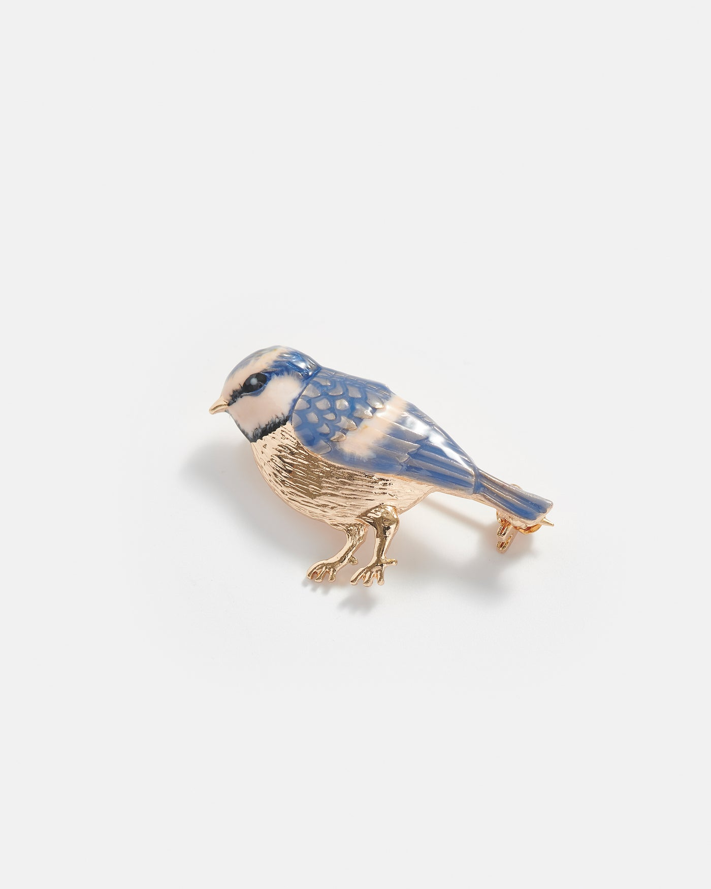 Enamel Blue Tit Brooch
