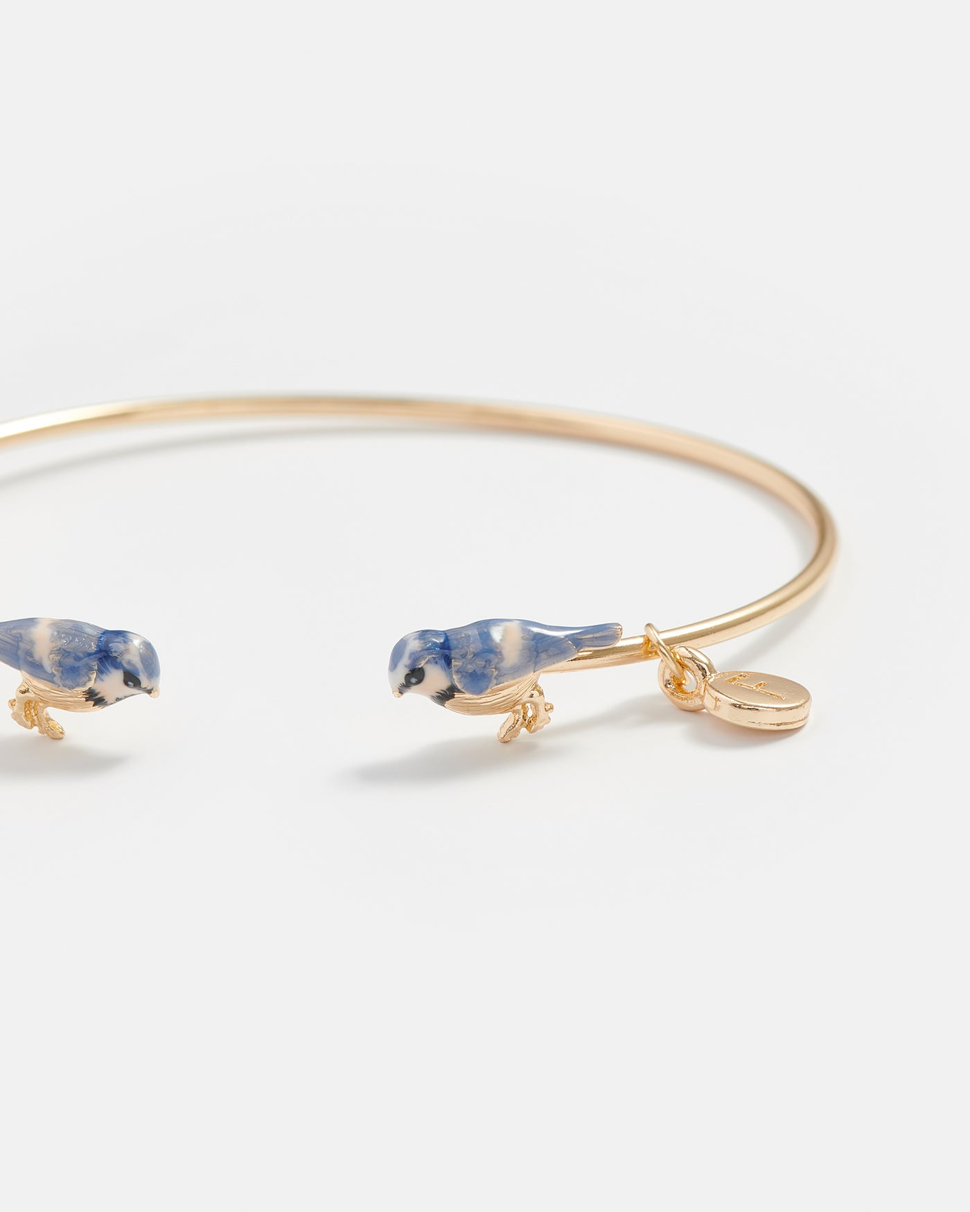 Enamel Blue Tit Bangle