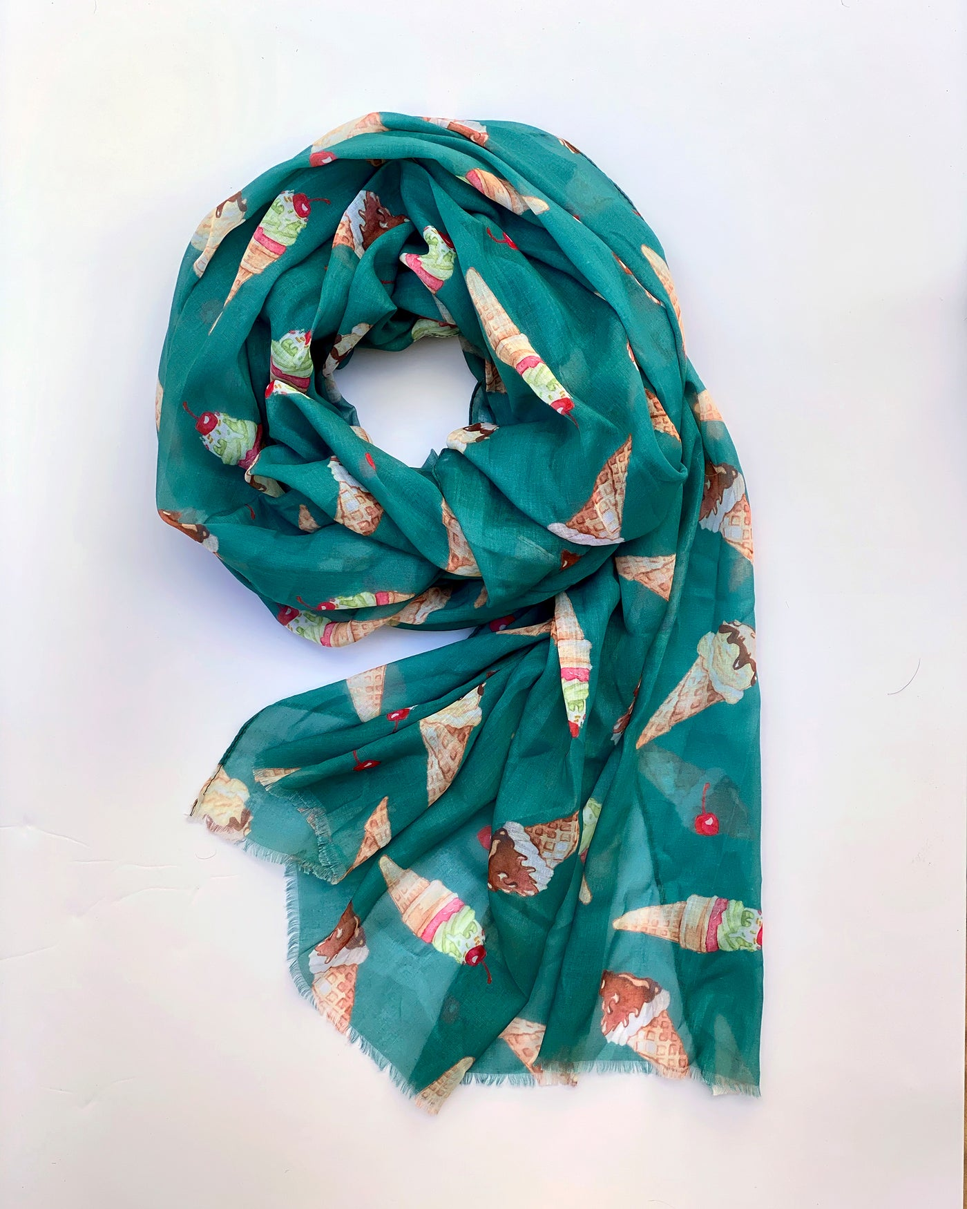 Teal Ice Cream Scarf