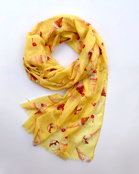 Lemon Ice Cream Scarf