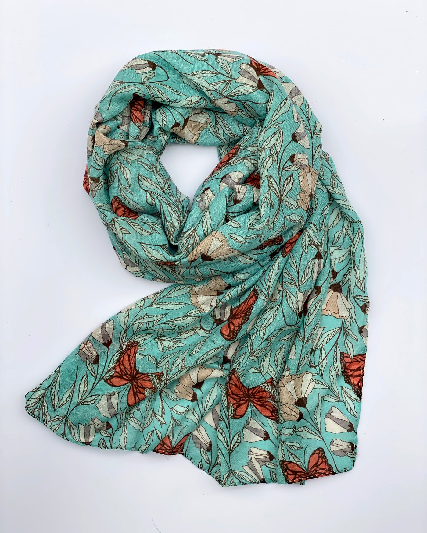 Butterfly Floral Scarf