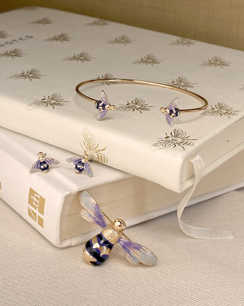 Enamel Bee Gift Set with Gift Wrapping