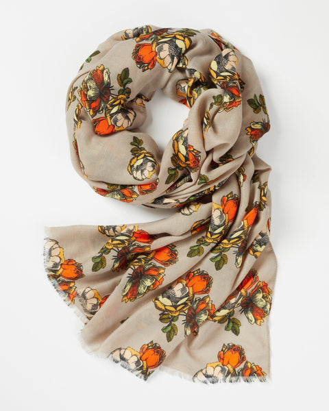 Beige Grassmere Scarf Scarf Fable