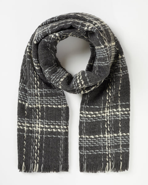 Black Check Woven Scarf Scarf Fable