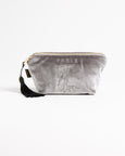 Grey Velveteen Fox Makeup Bag