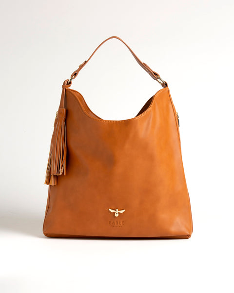Tan Honeysuckle Hobo Bag