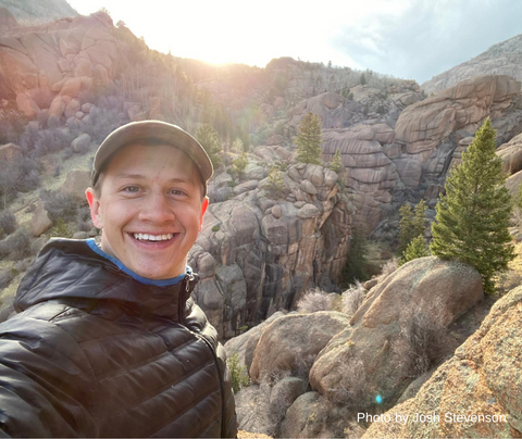 Man standing in front of Lost Wilderness Rock Canyons and Formations