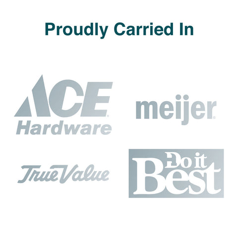We have the privilege of working with and being carried by Meijer, Do It Best, Ace Hardware, and True Value