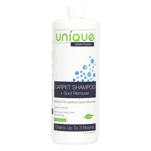 Unique Carpet Shampoo treats spots and stains using completely safe, non hazardous and eco friendly bacteria