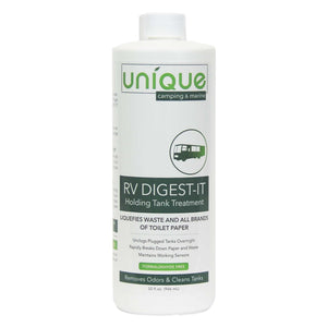 RV Digest-It 32 oz. breaks down waste and eliminates odors. lubricate valves and seals. Unique Camping + Marine