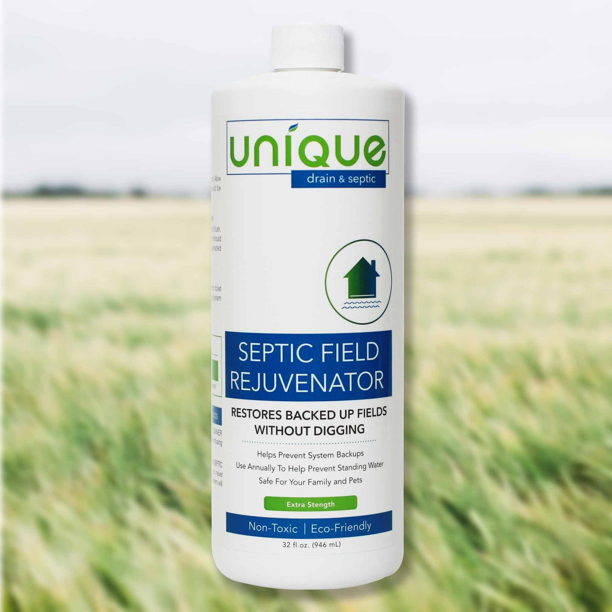 Unique Septic Field Rejuvenator is a powerful blend of bacteria that works to restore septic systems. Customers have save thousands by avoiding costly septic maintenance. Unique Drain + Septic