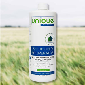 Unique Septic Field Rejuvenator is a powerful blend of bacteria that works to restore septic systems. Customers have save thousands by avoiding costly septic maintenance.