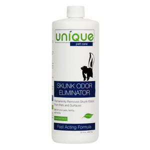 Eliminate Skunk odors. Can apply to hard surfaces or people/pets. Safe for you, your family, and the environment.