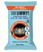 SKiNNY JiMMY! Eye of the Tiger (Caramel Chocolate Nut) Low Calorie Protein Snack Bar with Guarana Caffeine and Turmeric