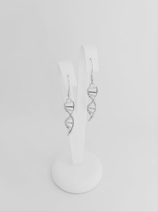 Sterling Silver DNA Earrings