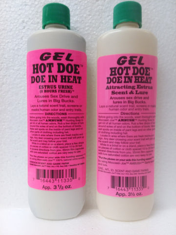 HOT DOE IN HEAT | URINE LURE OR ATTRACTING SCENT & LURE | GEL
