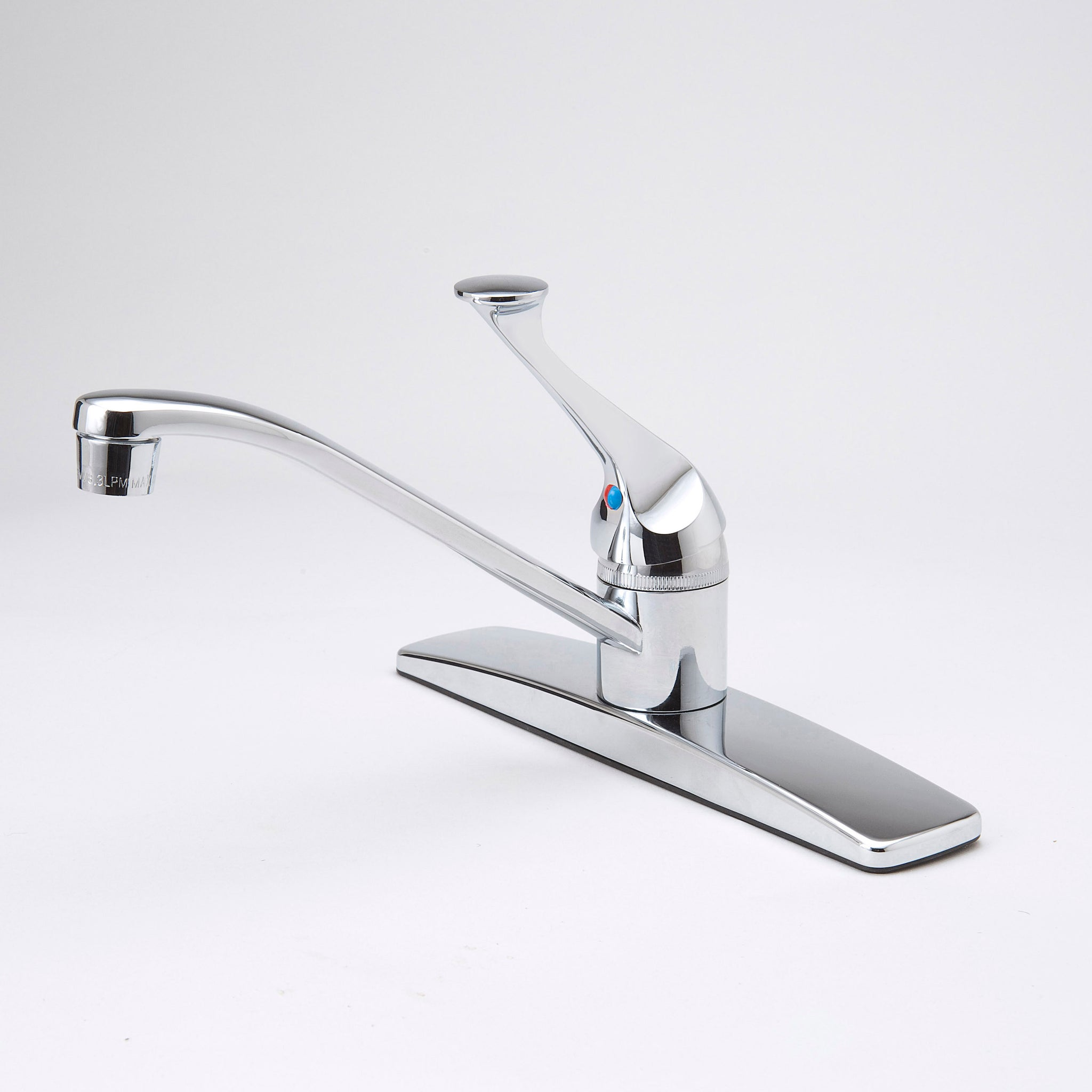 Simple One Handle Kitchen Faucet- chrome - The Overstock Club