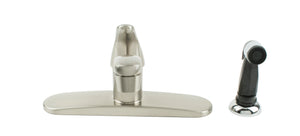 Single Metal Lever with Spray Brushed Nickel Kitchen Faucet