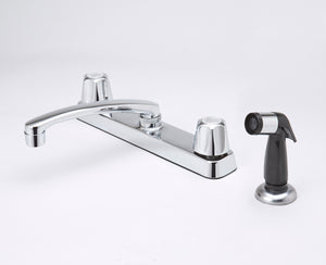 Traditional Kitchen Faucet with Spray attachement - Chrome - The Overstock Club