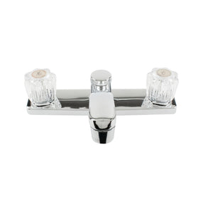 Two Acrylic Handle Less Spray Faucet - Square Base - Chrome