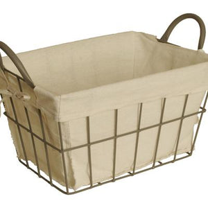 WIRE  BASKET WITH LINER