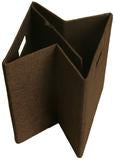 Cube Collapsible Tote, Dark Brown Woven