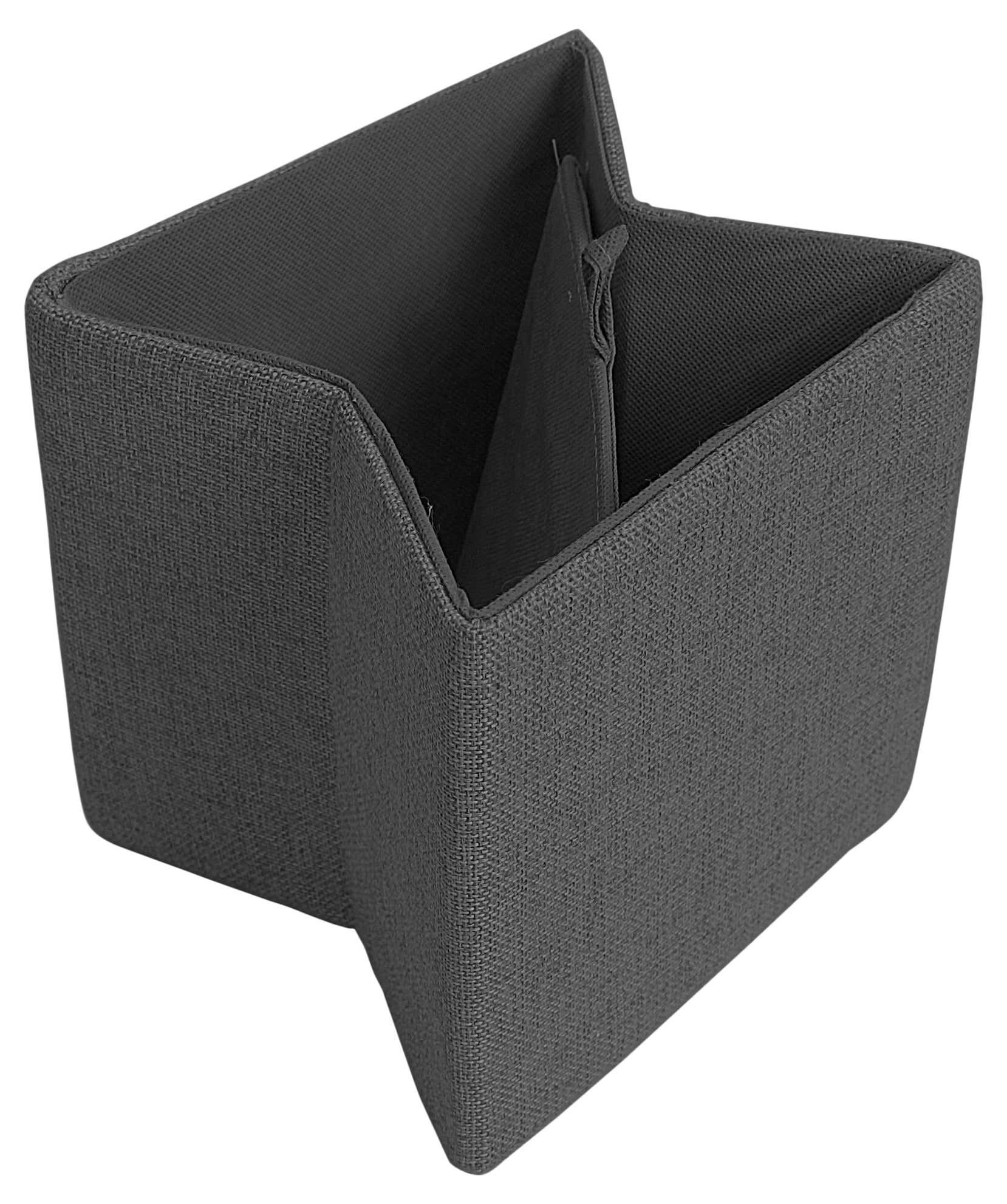 "7"" Collapsible Tote, Gray Canvas"