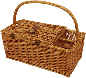 Picnic Basket with Wine Holders