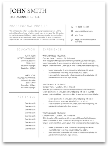 Belfast: Resume Template