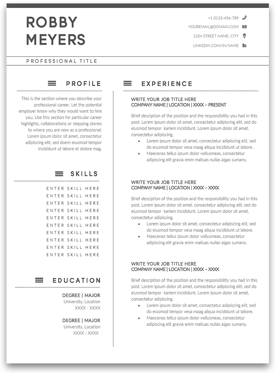 Stockton: Resume Template