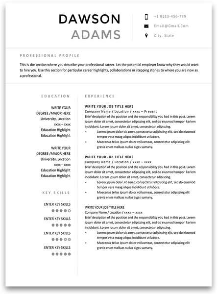 Glasgow: Resume Template