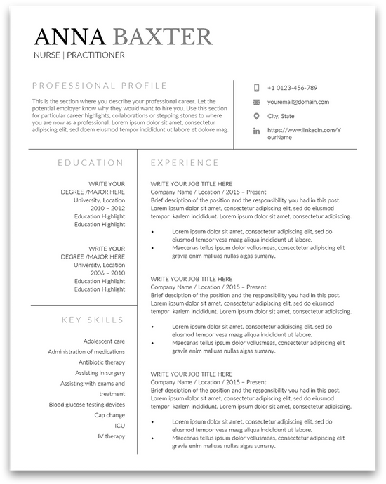 Top Effective Nurse Resume Templates And Samples For 2020