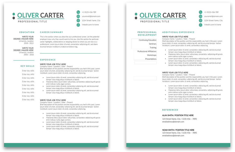 Aberdeen: Resume Template