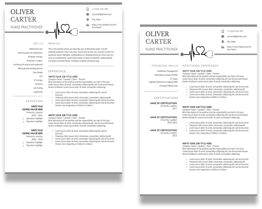 Milano: Resume Template