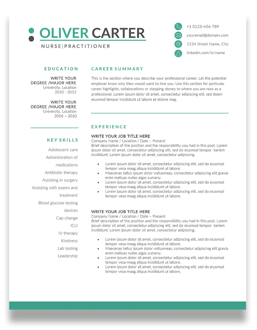 Dublin: Resume Template