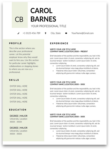 Brisbane: Resume Template