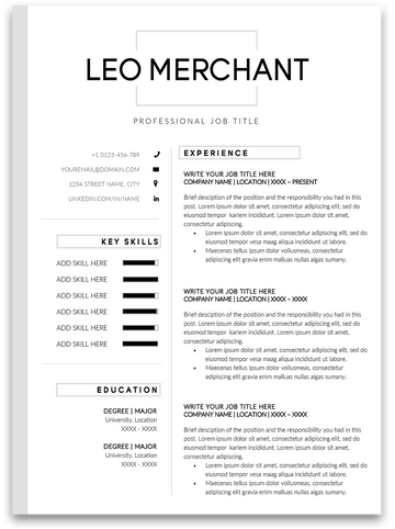 Brunswick: Resume Template