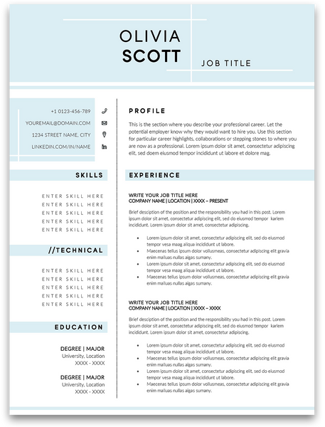 Ashfield: Resume Template