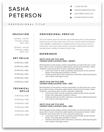 Bella Vista: Resume Template