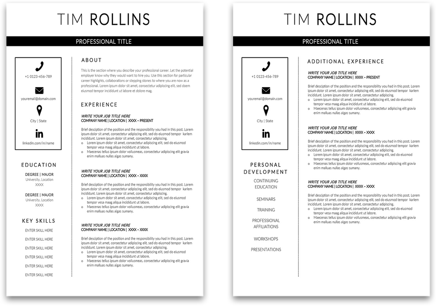 Mercedes: Resume Template